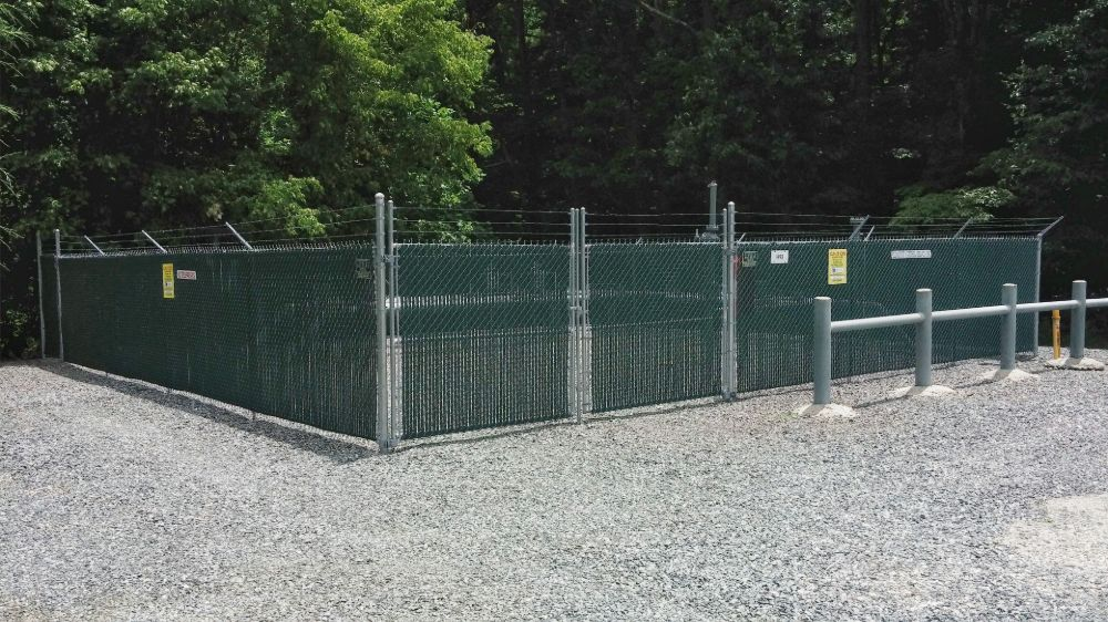 Chain Link with PVC Slats
