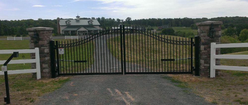 Estate Gate Arched Aluminum Entry Gate