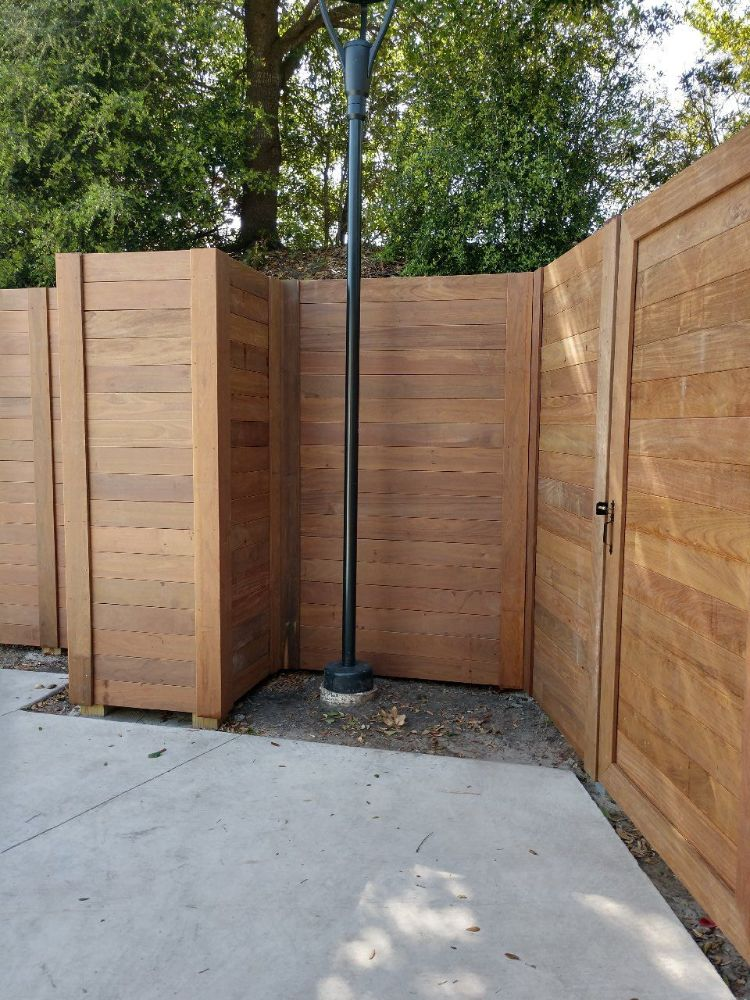 Ipe Custom Wood Fence