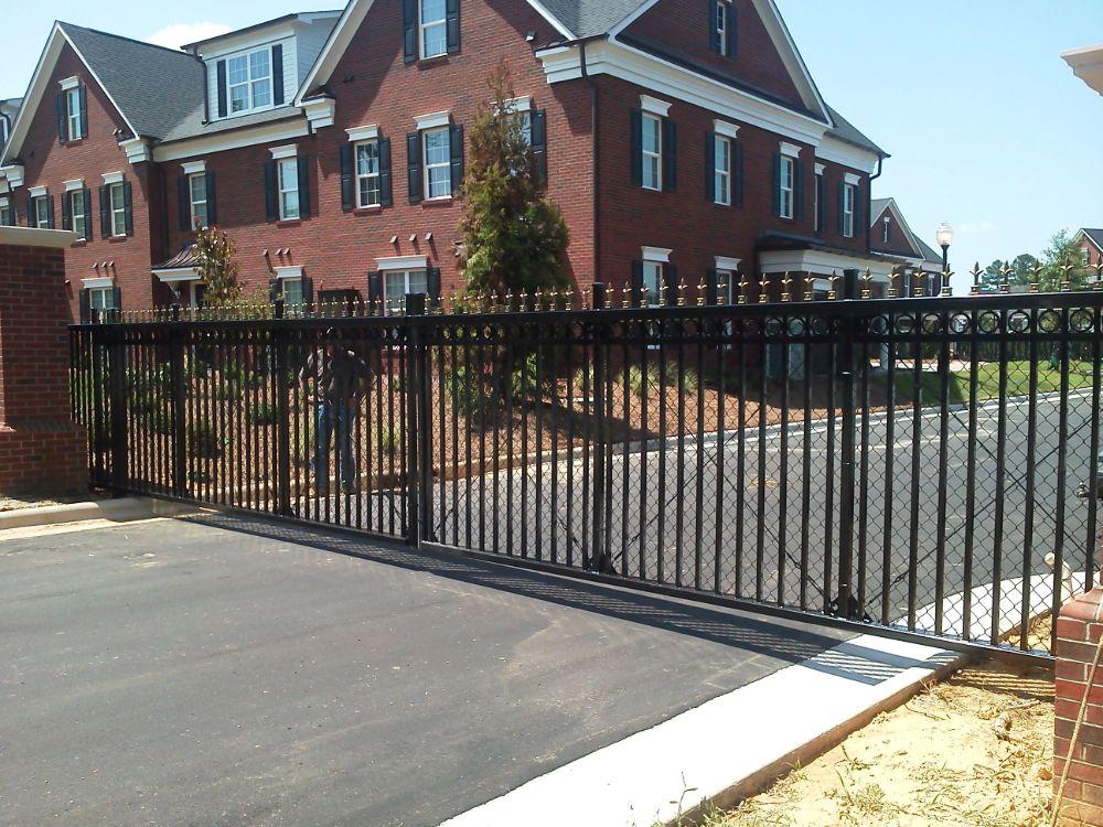 Ornamental Steel Slide Gate