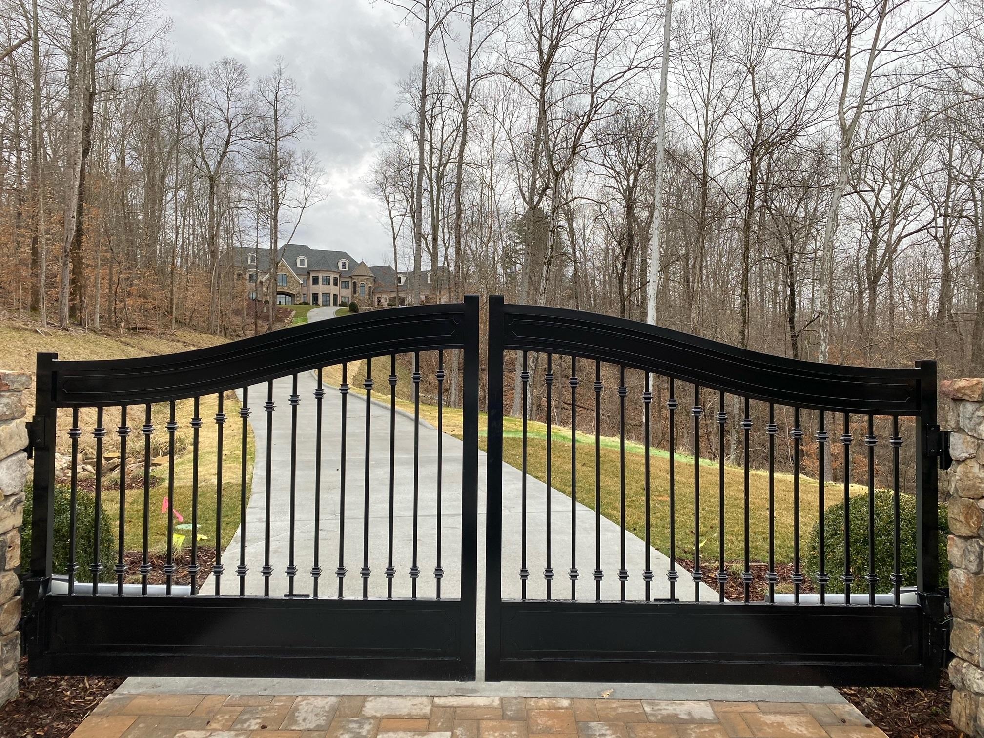 Custom Arched Gate 2